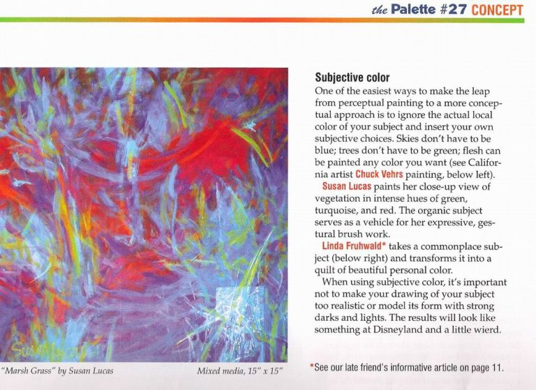 Susan Featured in Palette Magazine Oct. 2008