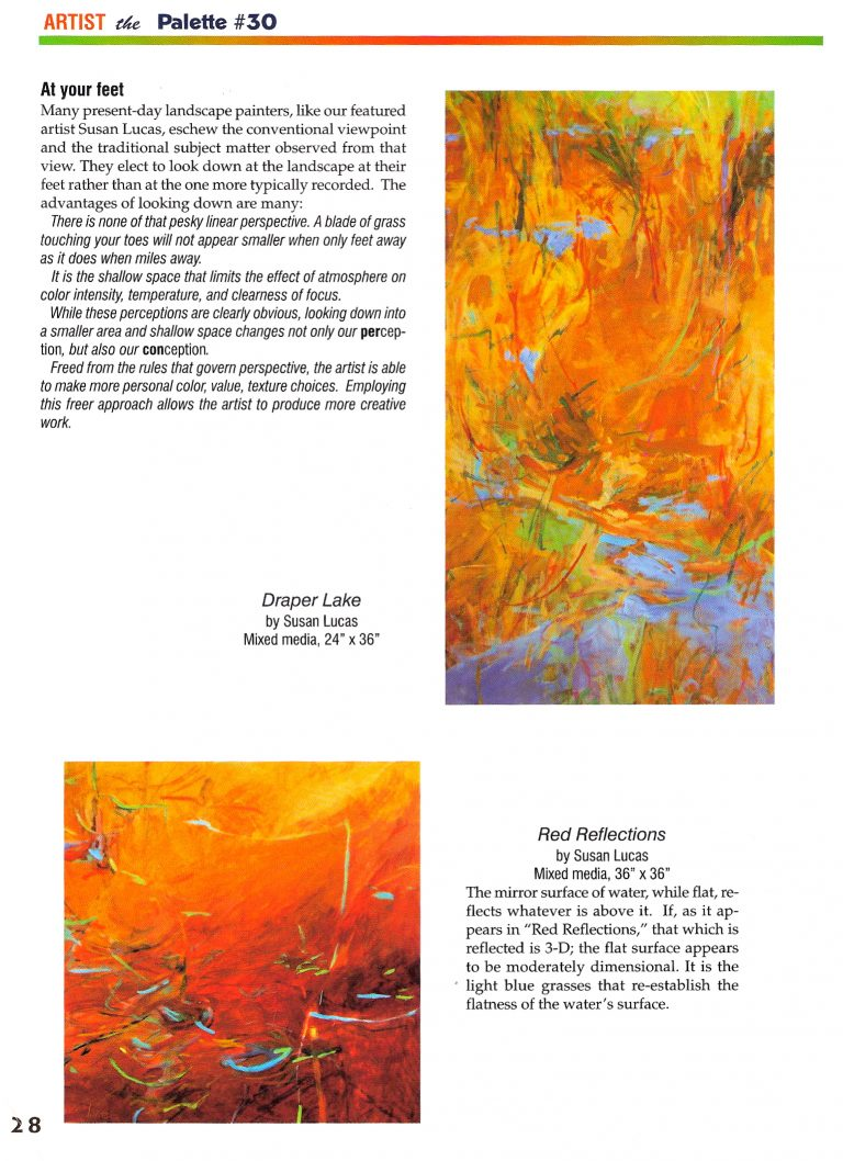 """Looking Down"" published in The Palette Magazine June/July 2009 issue featuring Susan Lucas - Page 2"