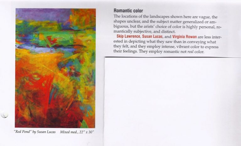 The Palette Magazine January 2010 issue featuring Susan Lucas.