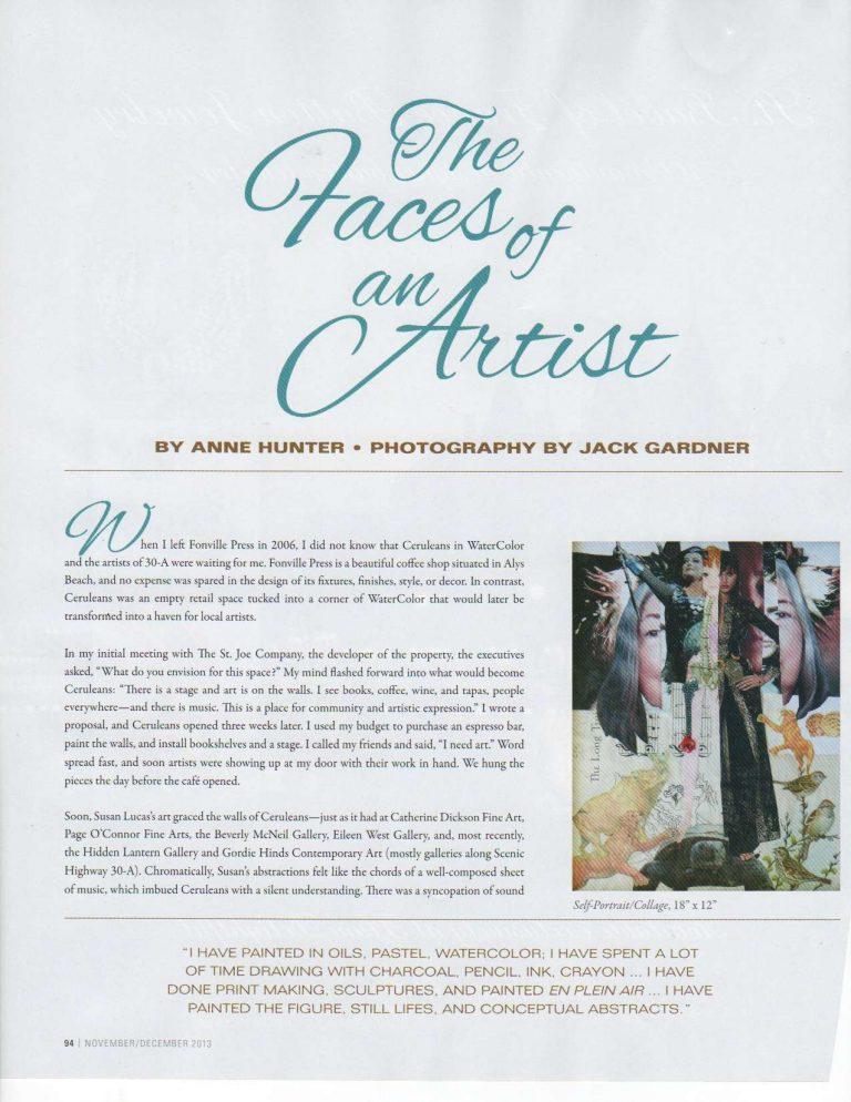 Susan Featured in VIE Magazine - Nov./Dec. 2013 - Page 1