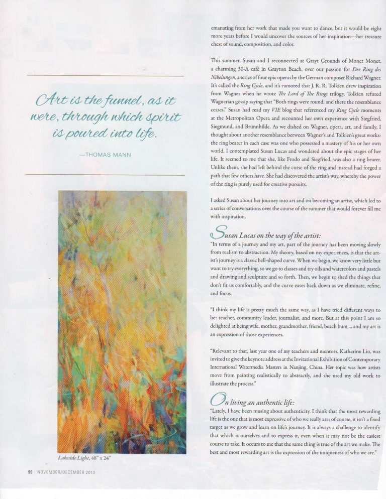 Susan Featured in VIE Magazine - Nov./Dec. 2013 - Page 3