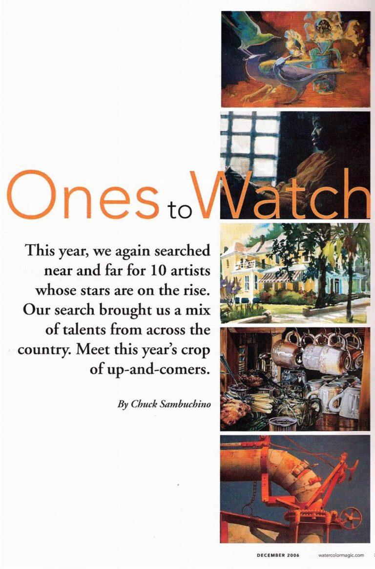 Watercolor Magic Magazine spotlights Susan Lucas December, 2006 - Page 1