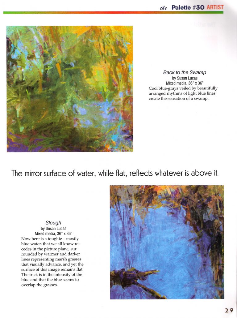 """""""Looking Down"""" published in The Palette Magazine June/July 2009 issue featuring Susan Lucas - Page 3"""